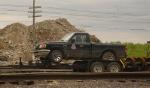UP Pickup on trailer