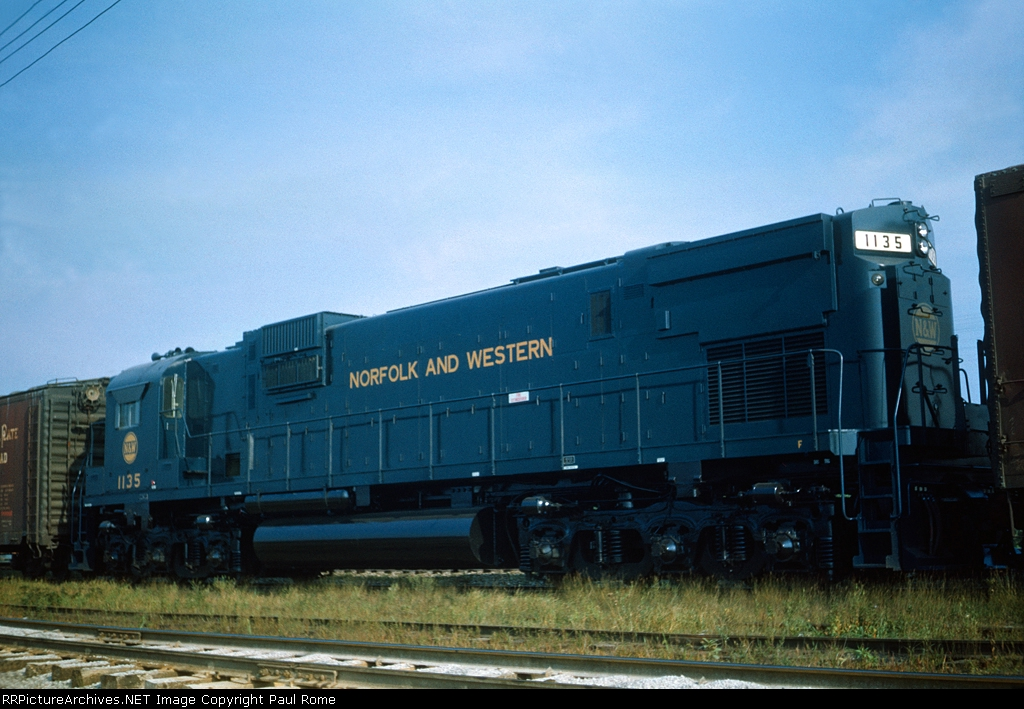 N&W 1135, ALCO C630, NEW delivery, awaiting pickup