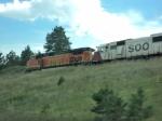 BNSF Dash 9 and SOO SD60