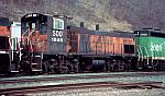 Soo 1548 passes on a freight