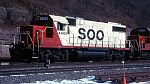 Soo 4405 passes the famous broom