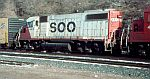 Soo 4415 and a CNW boxcar
