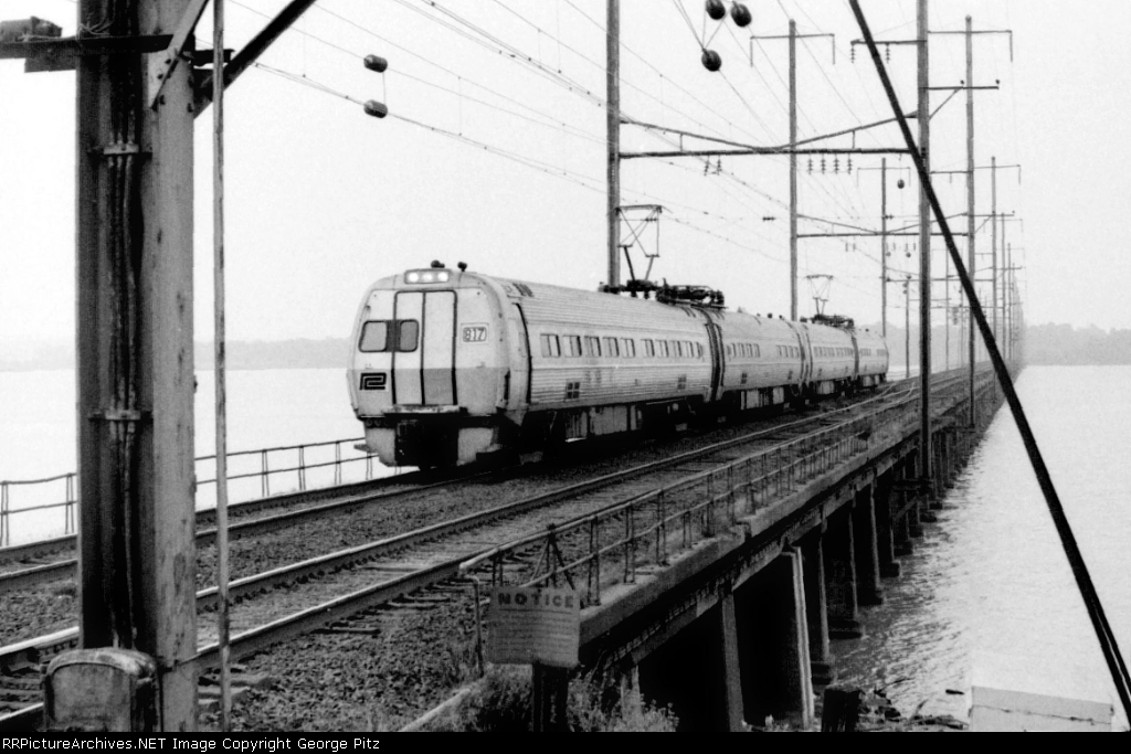 Metroliner 817 on Gunpowder River bridge