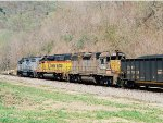 CSX helpers on coal loads