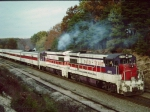 Original Auto Train Departing Lorton  VA - Oct. 1976