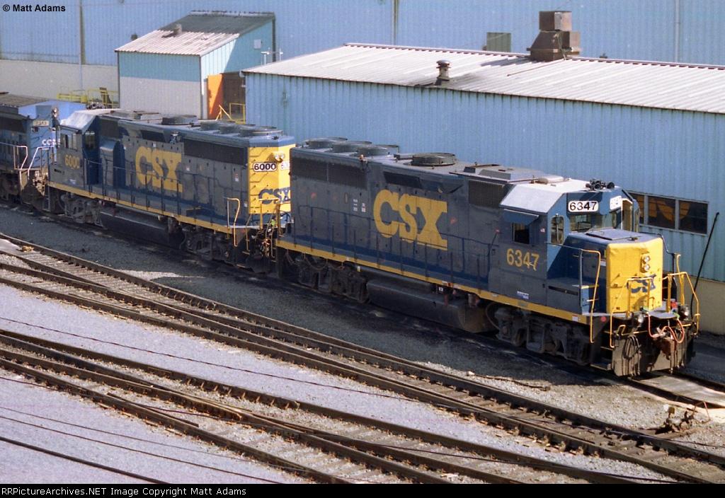 CSX GP40-2 6347