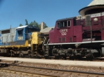 CSX 7561 and CEFX are the 2nd and 3 units on the MASKC with a 2 CSX and 3 CEFX Sd9043MACs