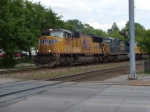 UP 4836 leads the MINNP with CSX 567 westbound on track 1