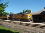 UP 7924 and UP 4859 lead a intermodal through Kirkwood