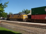 UP 7638 is the DPU for a intermodal at Kirkwood