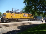 UP 7780 is the DPU on an intermodal at Kirkwood