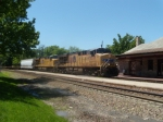 UP 5335 leads a flatcar special at Kirkwood