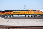 Side shot of BNSF 7329 and BNSF 7362 at the BNSF Fresno yard.