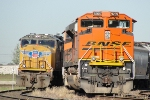 BNSF 9205 and UP 4755