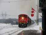 CN 520 with the Canadian Flag