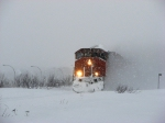 A nice SD40-2w in this snow storm at my MP 18.1 Drummond. Sub