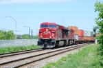 CP intermodal leaving Port of Montreal