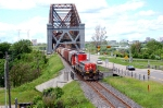 CN 516 passing Quebec Brdge,was going to Joffre Yard