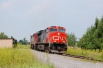 CN 323 going to the USA to change trains with NECR train