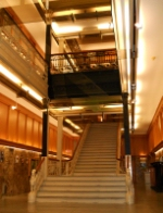 The grand staircase at Grand Trunk Railway headquarters