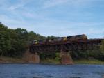 Csx detour train cross the Delaware River