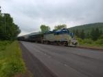 D&H 5017 pulls local passenger