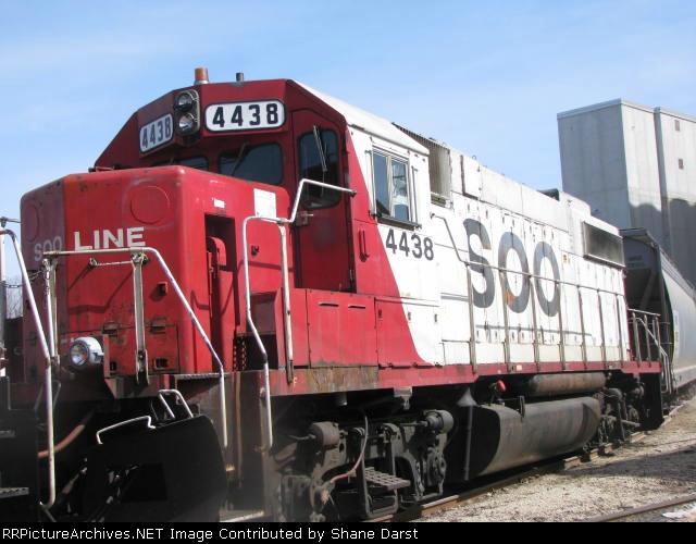 SOO 4438 at Winona, MN.
