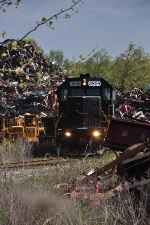 although a few yards further on the landscape changes dramatically as mountains of scrap are encountered