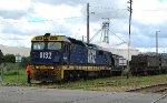Shunting Grain Wagons at Coota