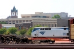 Amtrak #139 and the city skyline