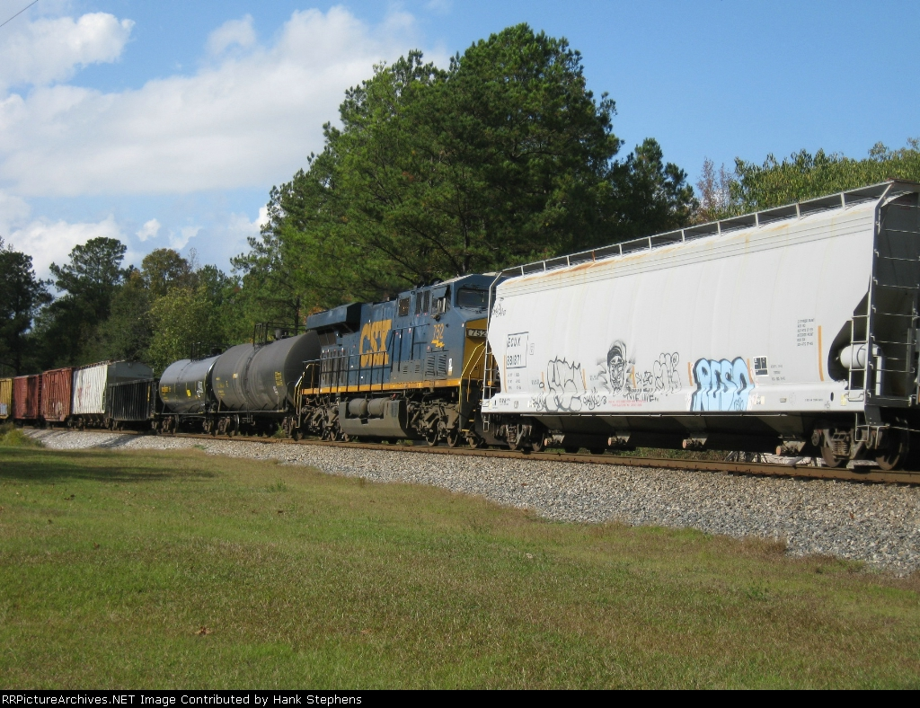 Picture Three--Still shots of Q602-26 as it passes holdout at Big Springs Community near South LaGrange