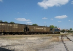 CSX bad ordered GE sits with empty hoppers staged for a nearby sawmill at Opelika, AL