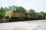 CSX Lineville Sub train with UP power at LaGrange, GA  August 2010