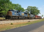 CSX Q617-21 in siding at Opelika, AL