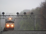 Norfolk Southern Merges out of Fog, Part 3