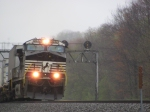 Norfolk Southern Merges out of Fog, Part 4
