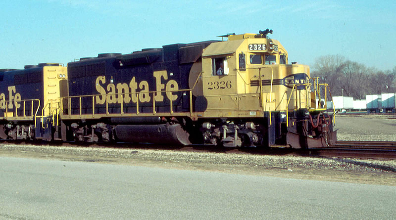 Santa Fe 2326 leads this freight