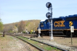 Westbound CSX at the diamond