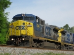 CSXT 7345 leads today's K721 southbound