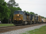 CSXT 707 leads today's Q458 northbound