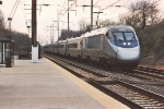 "Eastbound ""Acela Express"" roars past station"