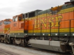 Fire damage on BNSF 562