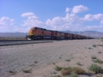 "9 BNSF LOCO's from the ""Loop"" into Mojave"