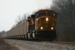 BNSF 8802 climbs out of town