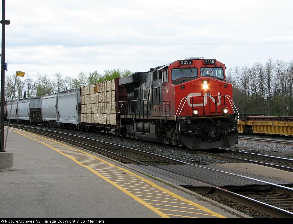 CN 2235 leading through Cobourg.