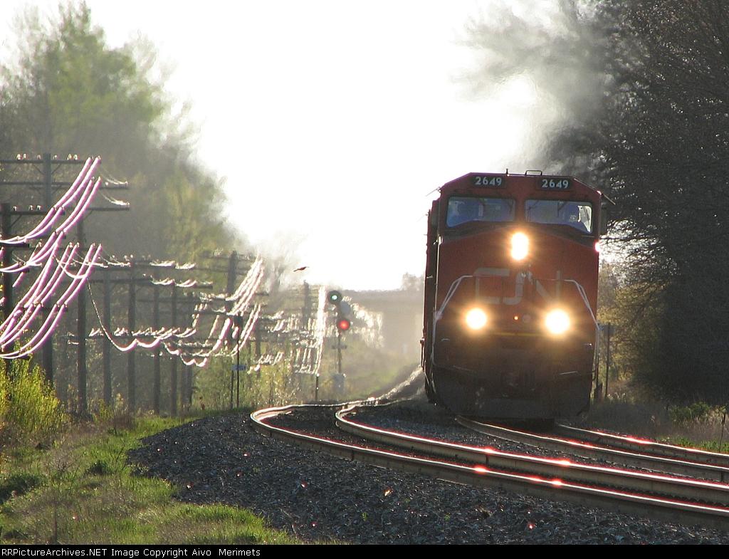 CN 2649 at Mile 260 Kingston Sub.
