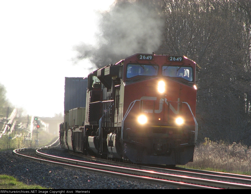 CN 2649 at Mile 260 Kingston Sub.