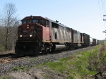CN 5554 with 371 at Mile 260 Kingston Sub.