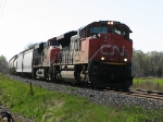 CN 8018 at Mile 260 Kingston Sub.