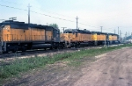 CNW 6832, UP 3296, CNW 6906, and CNW 6887